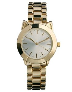 Find the best selection of ASOS Ears Boyfriend Watch. Shop today with free delivery and returns (Ts&Cs apply) with ASOS! Cat Jewelry, Jewelry Watches, Jewelry Accessories, Fashion Accessories, Jewlery, Outfit Essentials, Asos, Cat Watch, Boyfriend Watch