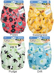 An overview of our growing selection of reusable newborn nappies