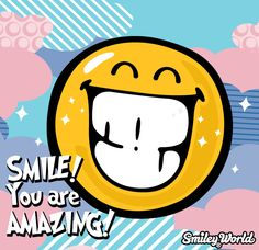 Smile you are amazing :) Download all smiley icons at www.smiley.com
