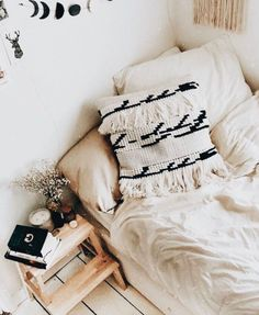 This plain and simple pillow would work with so many bedroom designs! click to shop the pillow!