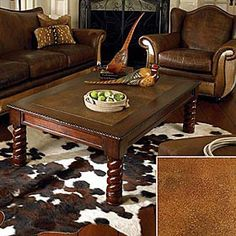 someday, when i have have a 2nd home in the texas hillcountry, i will fill it with western furniture. deer heads, cow skin rugs, the whole bit. i will have one happy hubby. marycburford