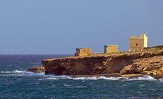 British coastal towers near Xgħajra, Malta