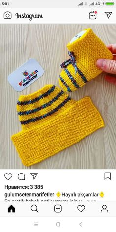 Gulumsetenmarifetlerpatik - Her Crochet Crochet Baby Poncho, Baby Booties Knitting Pattern, Crochet Slipper Pattern, Crochet Baby Booties, Baby Knitting Patterns, Knitting Socks, Hand Embroidery Videos, Knitted Slippers, How To Purl Knit