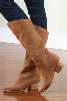 Brown Suede Boots For Women