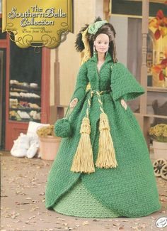 "The Southern Belle Collection - Dress From Drapes - Annie's Attic Crochet Pattern Leaflet for 11 1/2"" Fashion Doll New Condition VeryMaryKnitCrochet 8.00 USD September 29 2015 at 01:09PM"