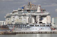 Latest construction photos of the world's largest cruise ship, Harmony of the Seas. #cruise
