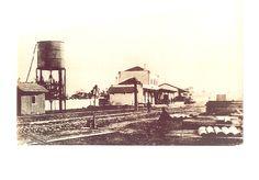 Construção do caminho de ferro em Olhão