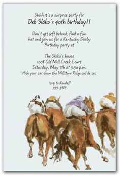 Horse Races Invitation Paperless Post Kentucky Derby Pinterest