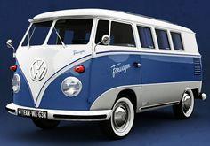 Love the paint job on this old Volkswagen Split Window #VWBUS  re-pinned by http://www.wfpblogs.com/author/nicolerichards/ `..