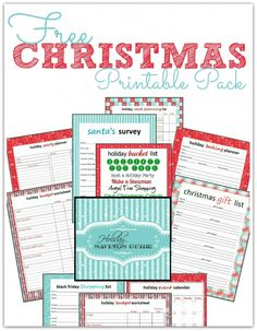 Free Christmas Printables On Pinterest | the FREE Holiday Printables Pack & Savings Guide! There are Free ...