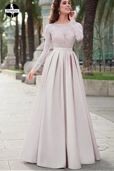 Lace Top Satin Jewel Neckline Long Sleeves A-line Prom Dress.- Lace Top Satin Jewel Neckline Long Sleeves A-line Prom Dress Evening Dress Lace Top Satin Jewel Neckline Long Sleeves A-line Prom Dress Evening Dress - Evening Dress Long, Hijab Evening Dress, Hijab Dress Party, Prom Dresses Long With Sleeves, Long Prom Gowns, A Line Prom Dresses, Formal Dresses, Dress Prom, Muslim Prom Dress
