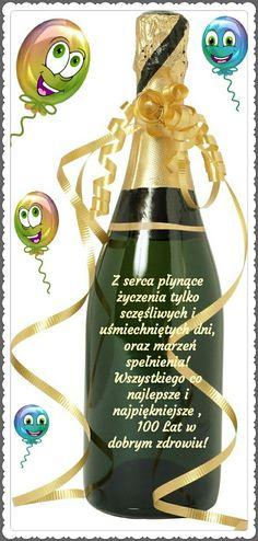 Z okazji 💟🐞💕😚🌼🍰💖🍷🌷💛🌹🍀💖🍷🌷 - Top-Trends Weekend Humor, Champagne, Happy Birthday, Diy Crafts, Bottle, Health, Aga, Trends, Future