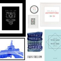 Tons and tons of free printables 50+ Free Wall Art Printables -- fabnfree.com