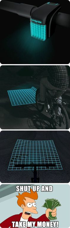 For those who love night rides: bike light that lets you know what the ground is like in the dark