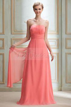 Fashionable Draped Sheath/Column Sashes/Ribbons Strapless Floor-length Yana's Bridesmaid Dress