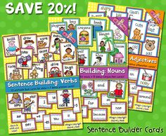 Kids will have a blast learning with our 'Sentence Building Flash Cards!' Buy this week and SAVE 20% on all 3 sets!  (Only through 2/25/15)