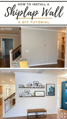A shiplap accent wall is a quick weekend project that will brighten up any room! Add style and interest and take proud in a simple but beautiful project that could easily pass off as professional. We'll show you how to get it done! #DIY #DIYProjects #DIYDecor #HomeDecor #Shiplap #AccentWall #ModernFarmhouse #interiordesign #Magnolia Home Improvement Projects, Home Projects, Craft Projects, Diy Interior, Interior Design, Brighten Room, Do It Yourself Decorating, Diy Ideas, Decor Ideas