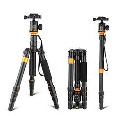 QZSD Q278 Lightweight Compact Tripod Monopod - Professional Ball Head for Canon Nikon DSLR Camera-Portable Camera Stand
