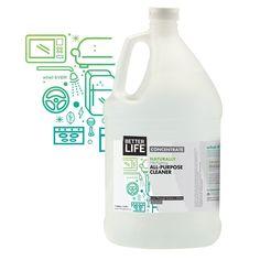 Natural All-Purpose Cleaner- Gallon Sized Label Design, Packaging Design, Clean Bottle, Dishwasher Tablets, All Purpose Cleaners, Washing Dishes, Product Label, Home Living, Bottle Design