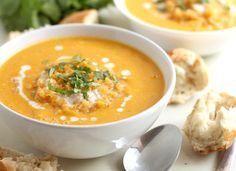Coconut & butternut squash soup