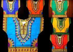 Kids Dashiki Boho Tribal Shirt African Vintage Hippie Blouse S M L XL One Size…