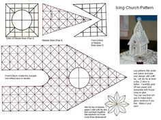 This is the pattern for my Icing Church.you make with Royal Icing.  I'll have to do in two parts.  Here is page 1.  You can see larger photo at: http://www.cakecentral.com/cake-photo_1180413.html   Hope you enjoy, do make it your own, and post photos if you make this.