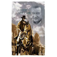 John Wayne Ride Em Cowboy Beach Towel