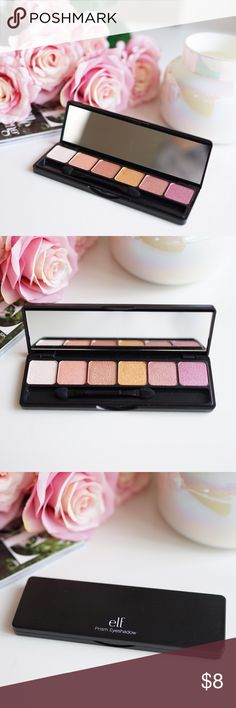 🆕 ELF Prism Eyeshadow Palette in Sunset Description: e.l.f. prism eyeshadow palette in 'Sunset'  Shadows: These ultra-silky and lustrous eyeshadows look like a powder but feel like a cream, allowing for a smooth and flawless application. The luminous, shimmery formula creates a gorgeous range of looks for both day and night. Use dry for a shimmery, pigmented wash of color or wet for a more intense look. ELF Makeup Eyeshadow