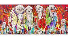 村上 隆 「五百羅漢図」(部分) 2012 年 個人蔵 ©2012 Takashi Murakami/Kaikai Kiki Co., Ltd. All Rights Reserved.