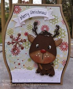 svg Chibi Reindeer card - Google Search