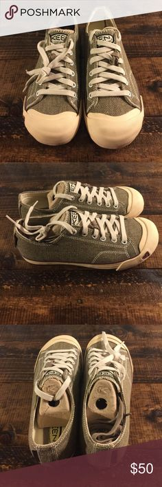 """⭐️NEW⭐️ Keen Sneakers 8.5 NEW ⭐️ Keen Sneakers Size 8.5. Never even tried on! #TruthTime: I tend NOT to fix something if it is not broken. I wore this style sneaker for most of undergrad. I could wear them to work & school. Neutral with jeans so I need to match! They never let me down except in deep snow ❄️ When I moved in with my brother, Albert """"made me"""" throw away 7 beat up pairs of THIS shoe. 😂 Note: No Keen Box as these were safely tucked away at the back of a dresser drawer. Shoes…"""
