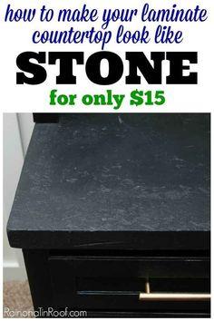 Donnez à la surface de votre comptoir en stratifié une apparence de pierre.