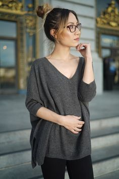 Boyfriend relaxed fit cashmere sweater