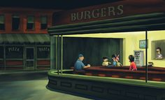 Night Burgers Art Print by Pyne | Society6