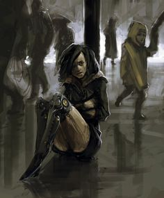 by *WhoAmI01 on deviantART.   It's the prosthetic legs that spark an idea in me.
