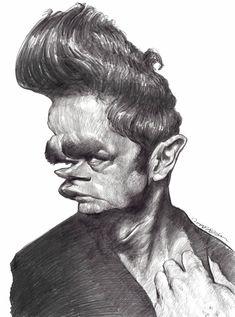 James Dean?k | Caricatures by Jan Op De Beeck