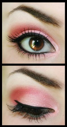 Bright pink eyeshadow! ブライトカラーのグラデーション。決してスモーキーではない‼︎