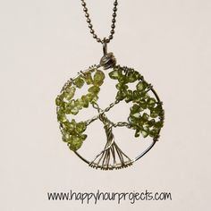 Wire-Wrapped Tree Necklace Tutorial  |  Happy Hour Projects