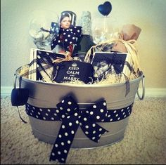 Personalized Engagement gift basket
