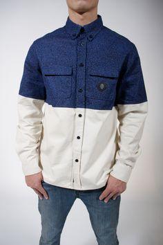 2tone buttonup shirt design for Ant-Origins    #streetwear #hypebeast #antorigins