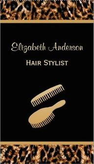 Pin by girly business cards on girly animal print business cards stylish brush black and gold leopard hair salon business cards colourmoves Images
