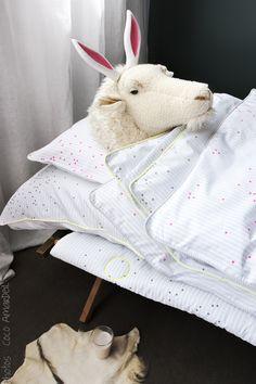 linge de lit  / bed linen - © la cerise sur le gâteau - Anne Hubert - photo: Coco Amardeil