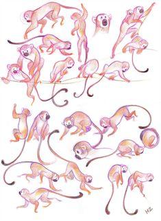 by JHzzz on DeviantArt Monkeys! by JHzzz Monkey Illustration, Book Illustration, Character Illustration, Monkey Art, Cute Monkey, Animal Sketches, Animal Drawings, Cartoon Drawings, Art Drawings