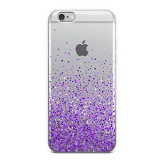 Abstract Purple Glitter Sprinkles iPhone Case