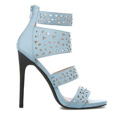 ShoeDazzle Sandals-Dressy - Single Sole Loyita Womens Blue ❤ liked on Polyvore featuring shoes, sandals, blue, sandals-dressy - single sole, blue strappy shoes, strap sandals, fancy footwear, fancy sandals and strappy sandals