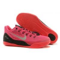 Nike 646701-881 Kobe 9 EM Pink Silver Low Mens Basketball Shoes