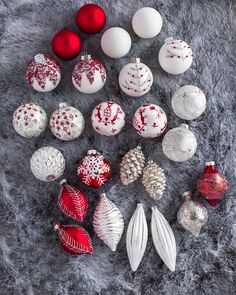 Enjoy the elegance of Scandinavian design with our various hand-painted ornaments. Shop beautiful Christmas decorations on Balsam Hill today. Christmas Tree Red And Silver, Rose Gold Christmas Decorations, Frosted Christmas Tree, White Christmas Ornaments, Red Ornaments, Hand Painted Ornaments, Christmas Tree Themes, Christmas Tables, Modern Christmas