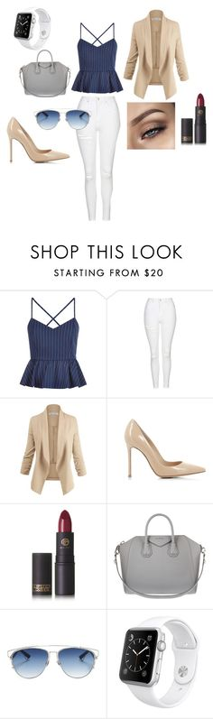"""""""her name was claire"""" by xlox ❤ liked on Polyvore featuring New Look, Topshop, Gianvito Rossi, Lipstick Queen, Givenchy, Christian Dior and Apple"""