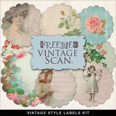 Far Far Hill Vintage Style Labels Kit