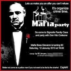 Hi friends we r planing to celebrate 31 december night in mafia style if u r interested pls let me know at the earliest...thanx